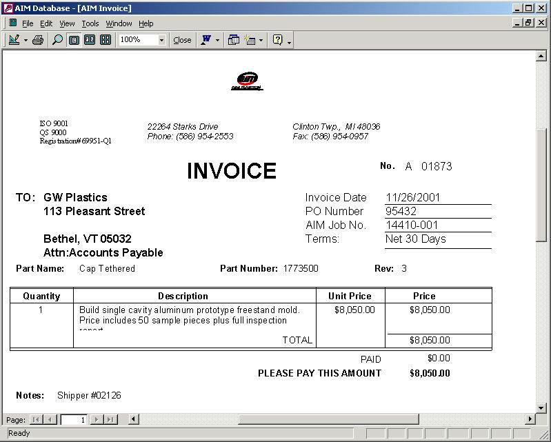 Trade Invoice Invoice Generation Systems