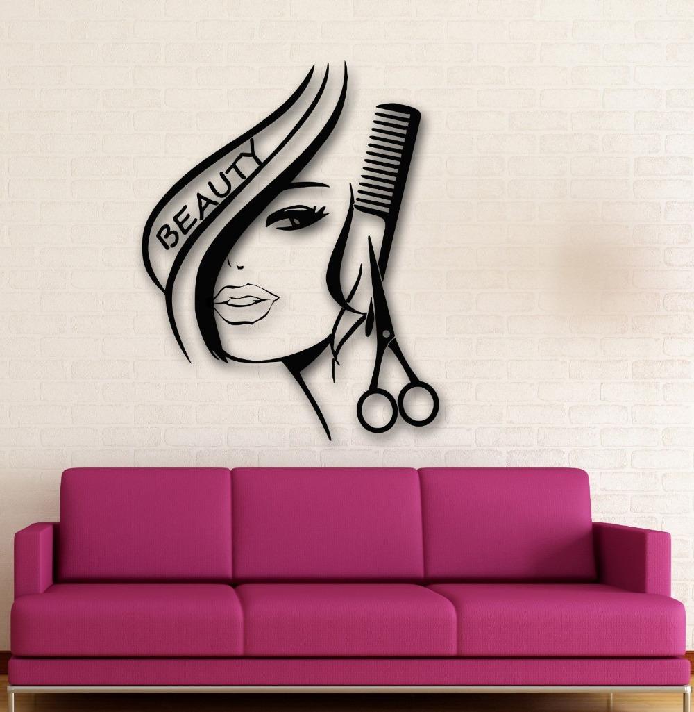beauty salon wall art stickers true beauty wall sticker