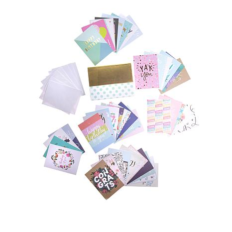 American Crafts All Occasion Greeting Card Kit 44-pieces - 8728864 HSN