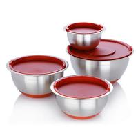 Wolfgang Puck 8-piece Non-Skid Stainless Steel Mixing Bowl ...