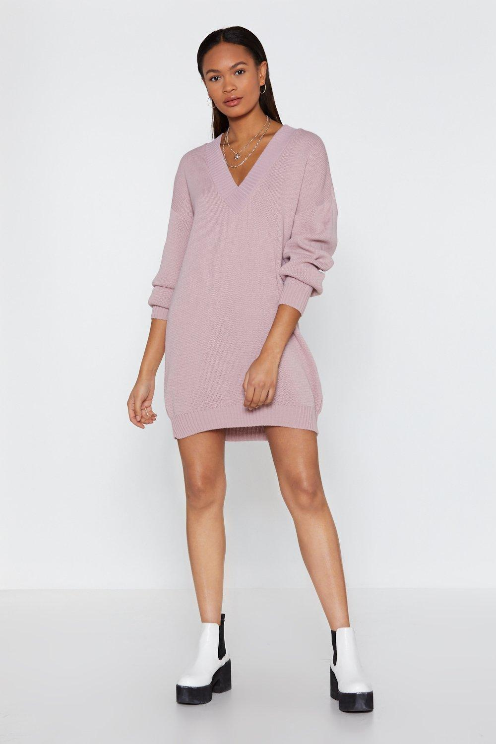 Robe Pull Femme Robe Pull Oversize Le V De La Victoire Shop Clothes At Nasty Gal