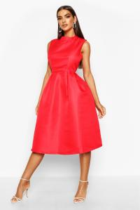 Boohoo Womens Sana Boutique High Neck Prom Dress