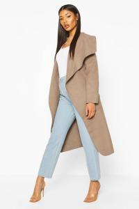 Kate Belted Shawl Collar Coat at boohoo.com