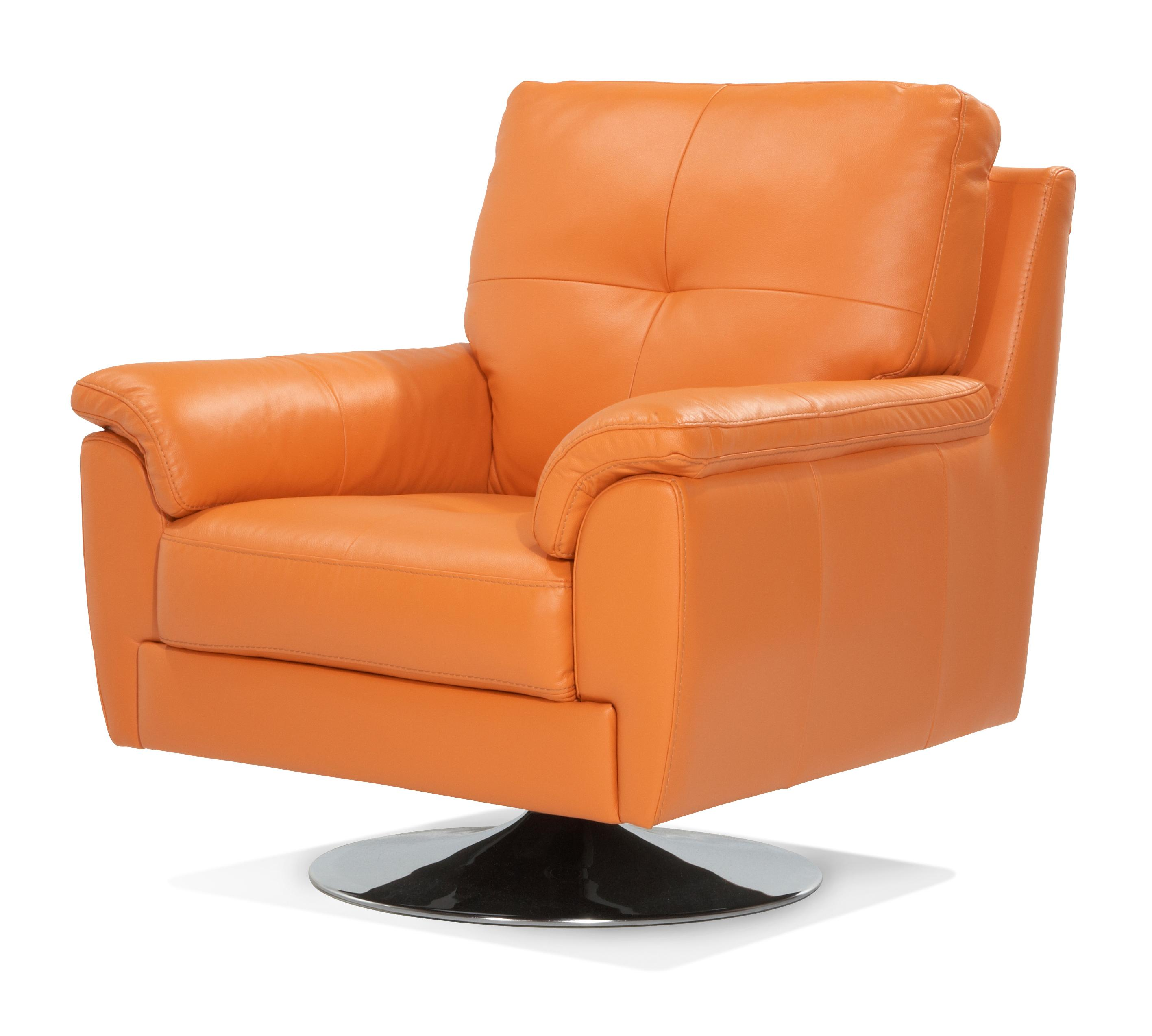 Orange Leather Chair Dfs Ainsley 100 Real Leather Orange Swivel Chair Ebay