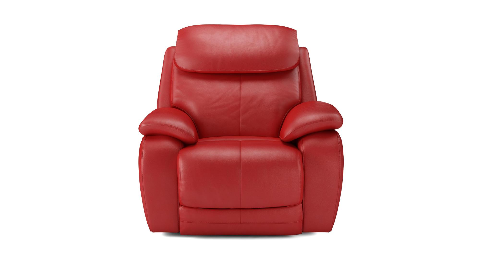 Electric Recliner Leather Chairs Dfs Daytona Rosso Red 100 Leather Electric Recliner Chair