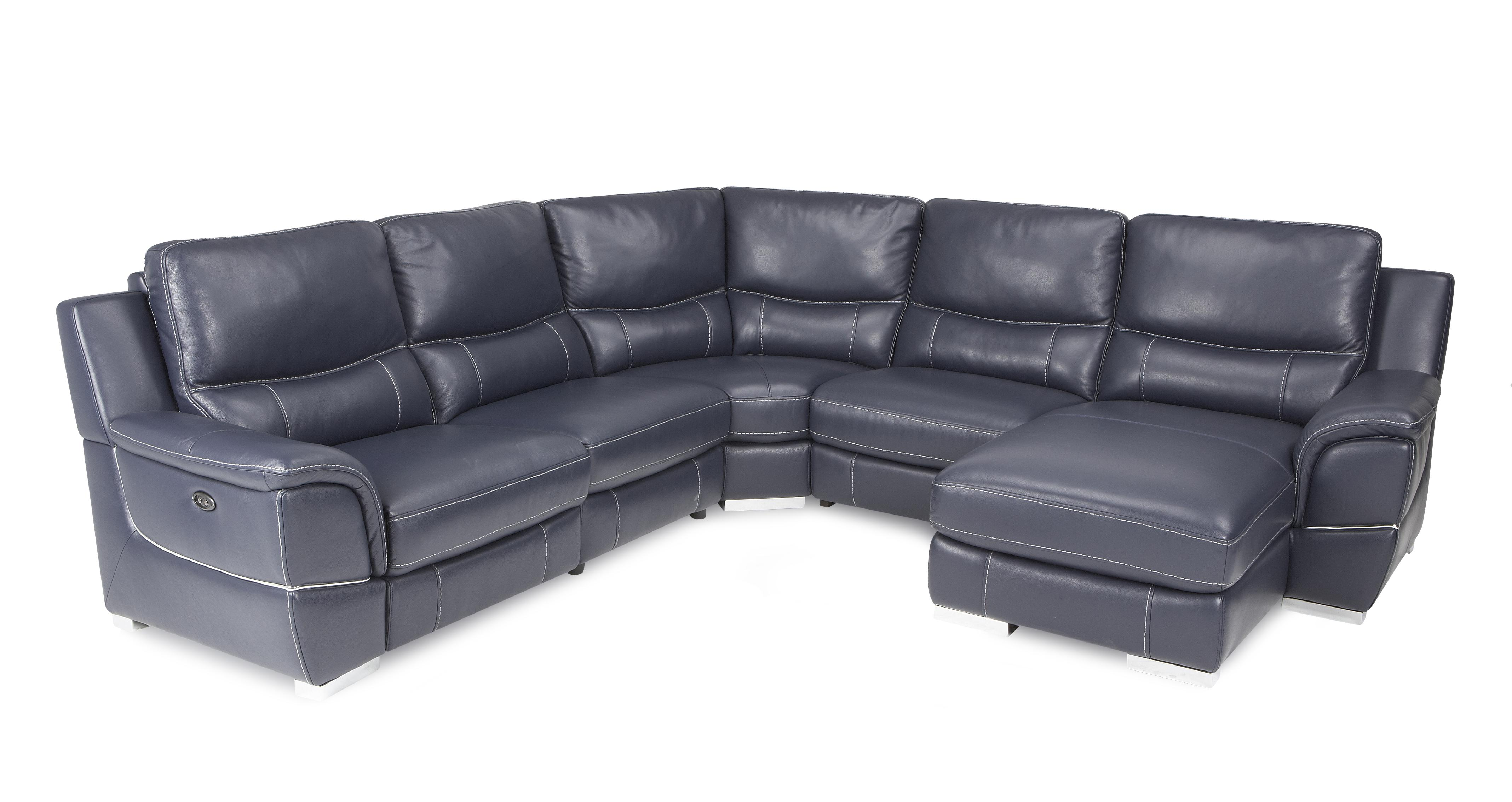 Dfs Leather Sofa Director Right Hand Facing Power Chaise Corner Sofa