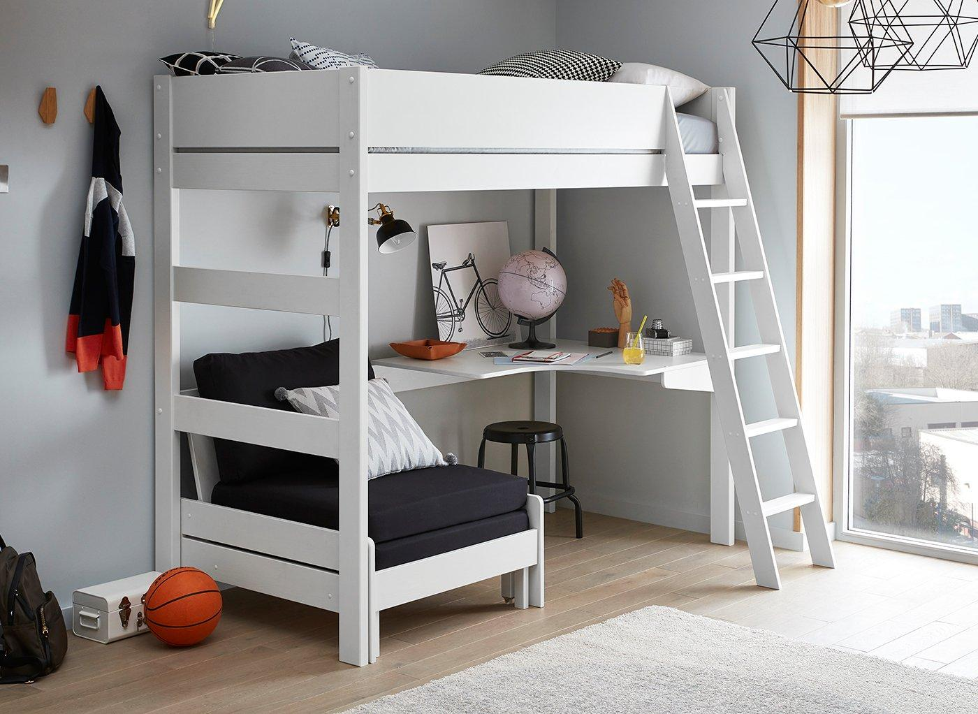 Anderson High Sleeper With Black Chair Kids Dreams