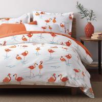 Flamingo Percale Duvet Cover | The Company Store
