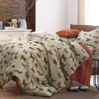Walk The Dog Flannel Duvet Cover | The Company Store
