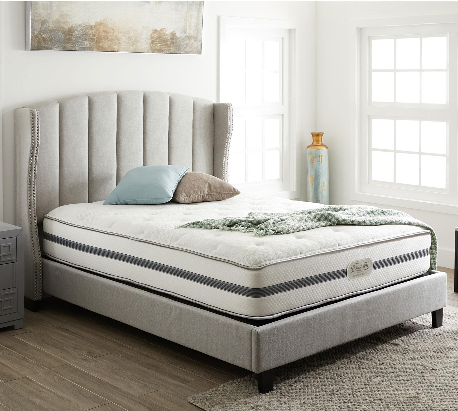 Queen Size Bed With Mattress Recharge Signature Select Ashaway 11 Quot Plush Mattress