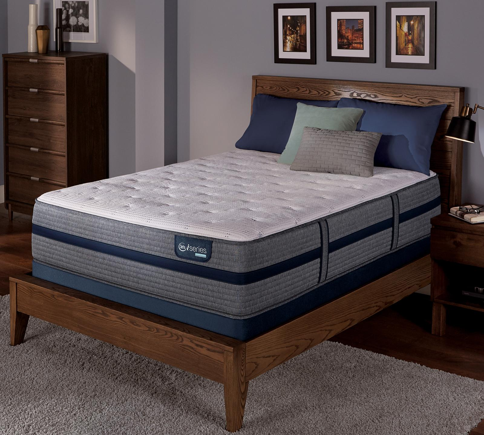Size Of Queen Bed Iseries Hybrid 300 13 5