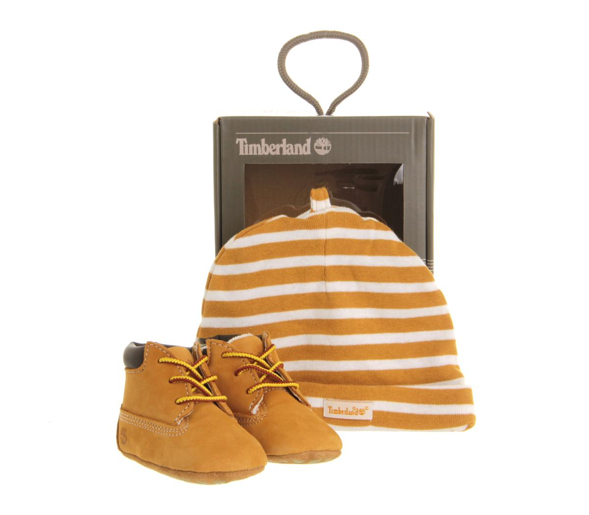 TIMBERLAND 6INCH CRIB WHEAT COMES W SKULL CAP NEW BORN CRIB BOOTIES 9589R