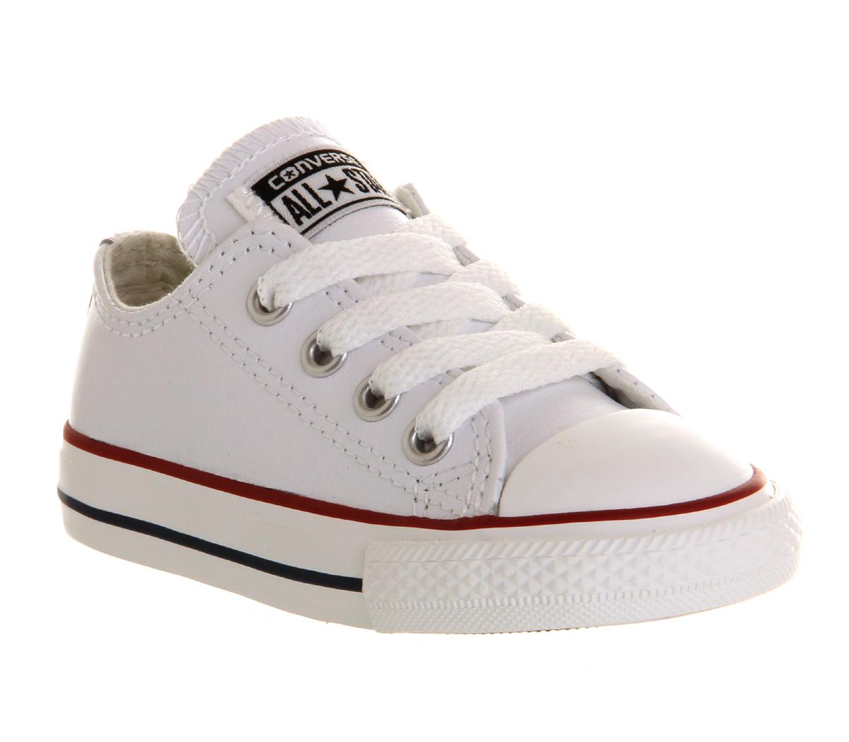 Baby White Converse Pram Shoes All Star Low Infant Shoes