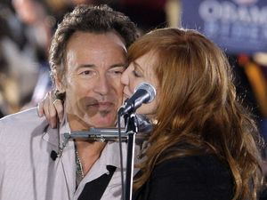 Bruce Springsteen and his E-Street Bandmate Patti Scialfa