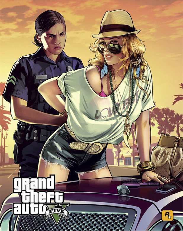 Grand Theft Auto Five poster