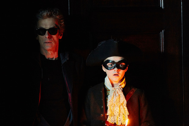 Peter Capaldi & Maisie Williams in Doctor Who S09E06: 'The Woman Who Lived'