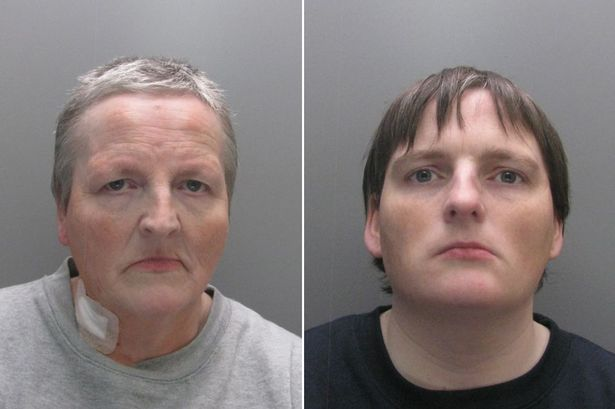 Left - Margaret Carroll and right - Katrina Livingstone, both jailed for four years for arson wreckless whether to endanger life, at Durham Crown Court