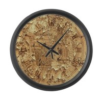 Clock face distressed Large Wall Clock by plasmax