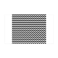Black White Chevron Wall Decal by PrintedLittleTreasures