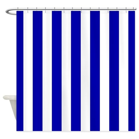 Bathroom d 233 cor gt navy blue and white sailor stripes shower curtain