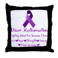 Chiari Malformation Awareness Throw Pillow by listing ...