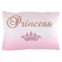 Pink Princess Pillow Case by getyergoat
