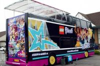 Climb aboard the LEGO tour bus and be a pop star for a day ...