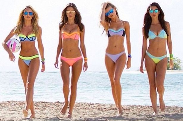 Dreaming About Wallpaper Falling Off Lily Aldridge And Alessandra Ambrosio Scorch In Bikinis