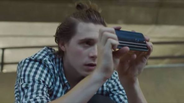 Brooklyn appears in his first big paid ad for a mobile phone company