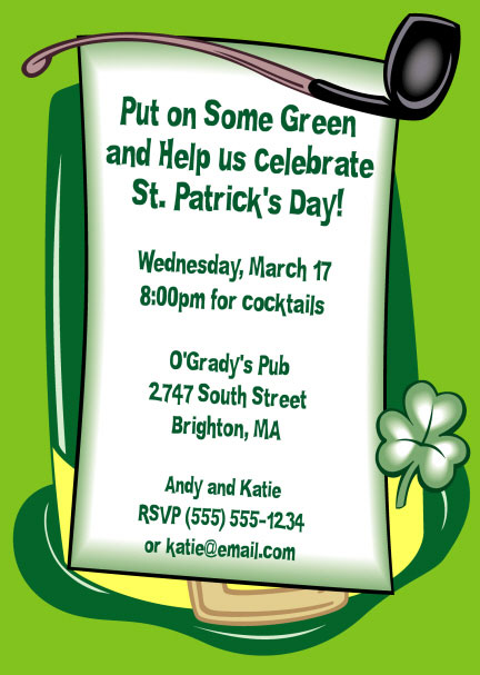 St Patrick\u0027s Day Derby Invitation