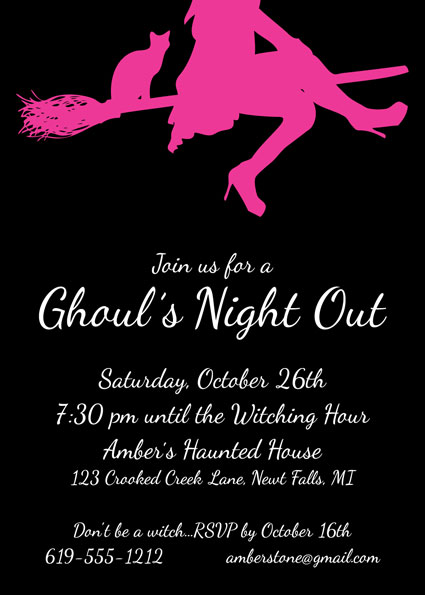 Ghoul\u0027s Night Out Halloween Invitation