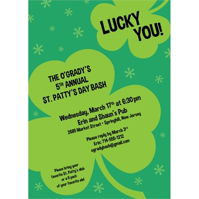 St Patrick\u0027s Day Irish Invitation