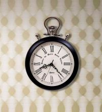 Home Sparkle Black Oversized Pocket Watch Wall Clock by ...