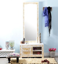 Buy Rebecca Dressing Table in White Color by Amberville ...