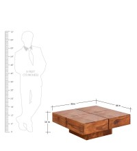 Low Height Solid Coffee Table by Wood Dekor by Wood Dekor