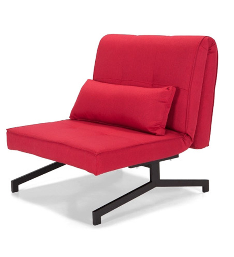Single chair sofa cum bed red by furny online sofa cum