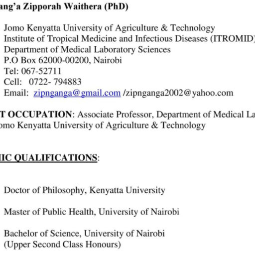 Mercy Kananu Jomo Kenyatta University of Agriculture and