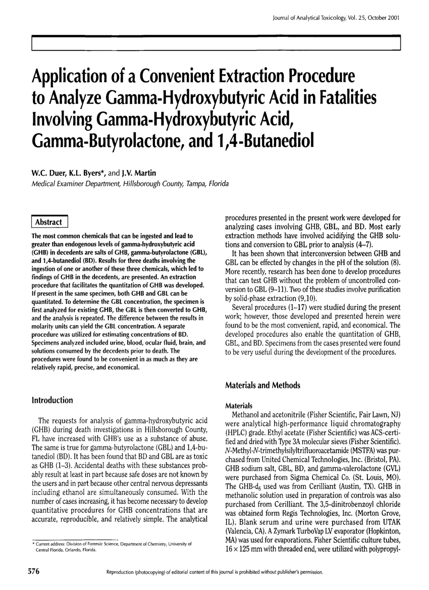 Caustic Soda Gamma Pdf First Reported Uk Fatality Due To Gamma Butyrolactone Gbl