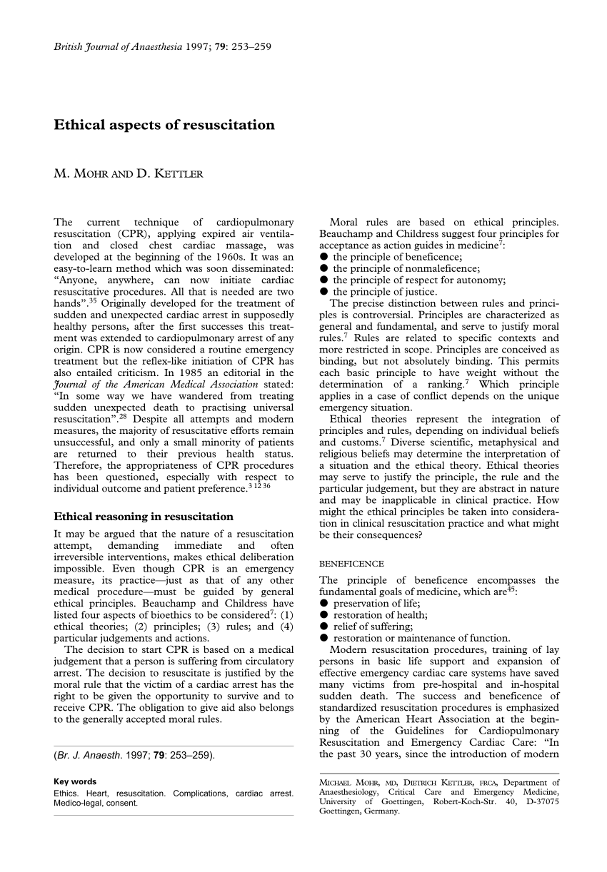 Kettler Julia Rt Pdf Ethical Aspects Of Resuscitation