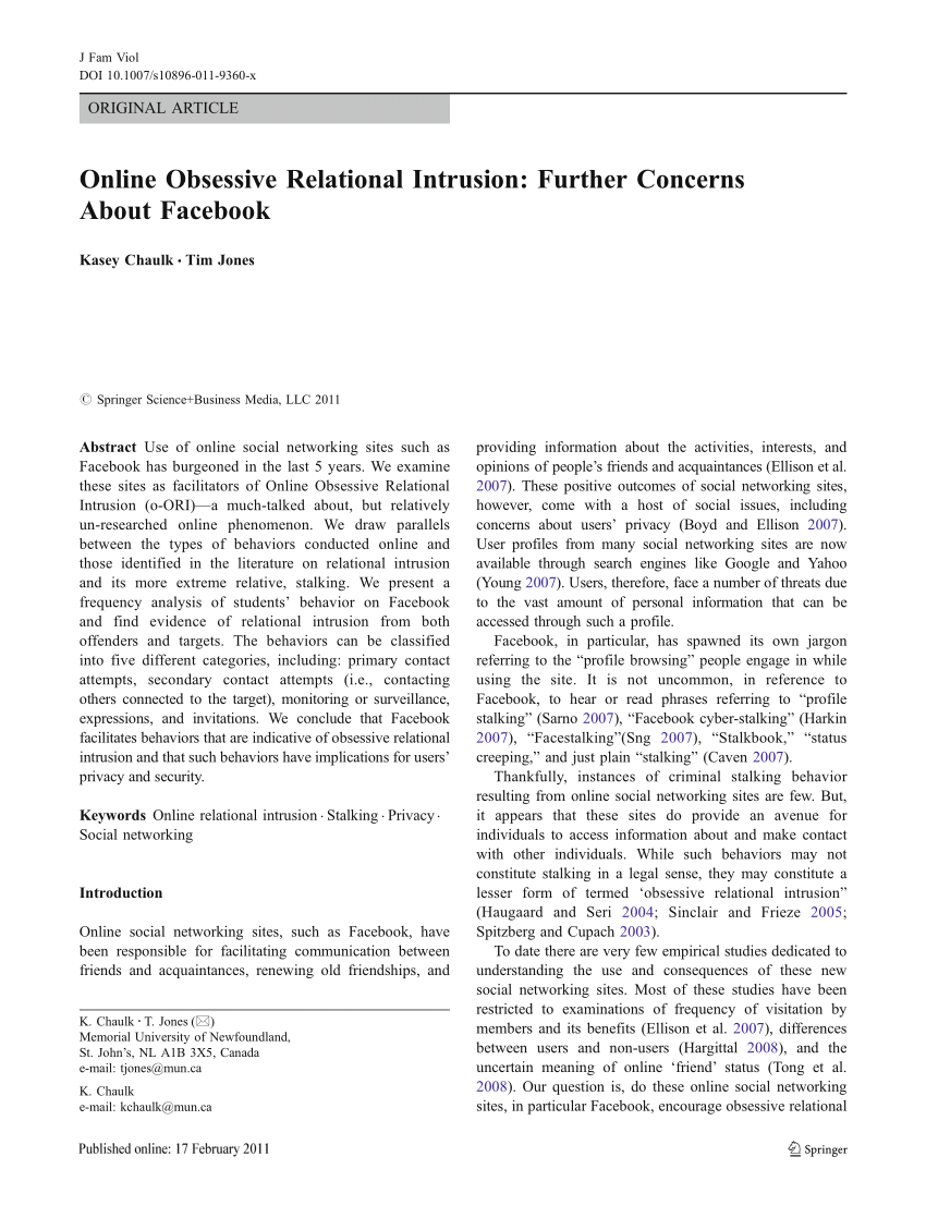 T-online.e Pdf Online Obsessive Relational Intrusion Further Concerns About