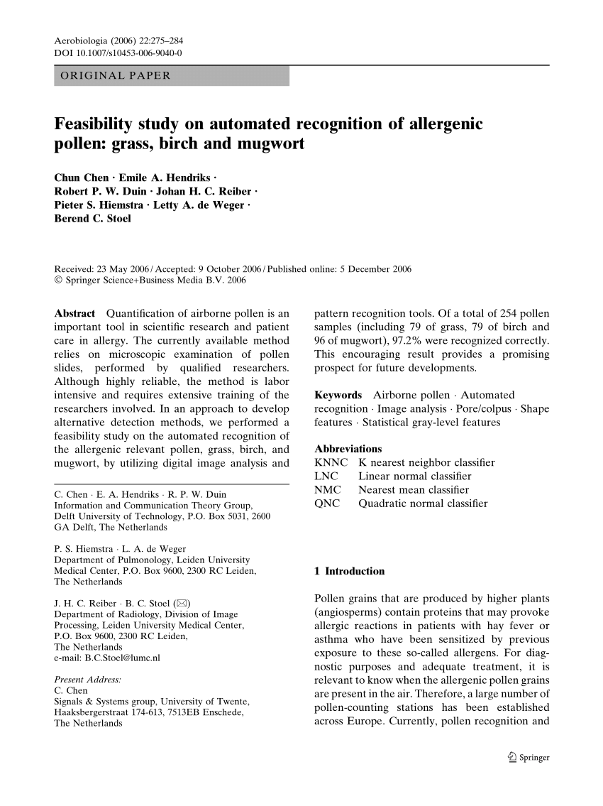 Letty Johan Pdf Feasibility Study On Automated Recognition Of Allergenic