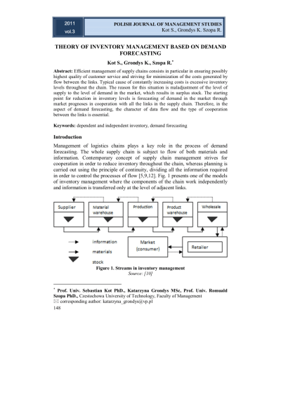 (PDF) Theory of inventory management based on demand forecasting