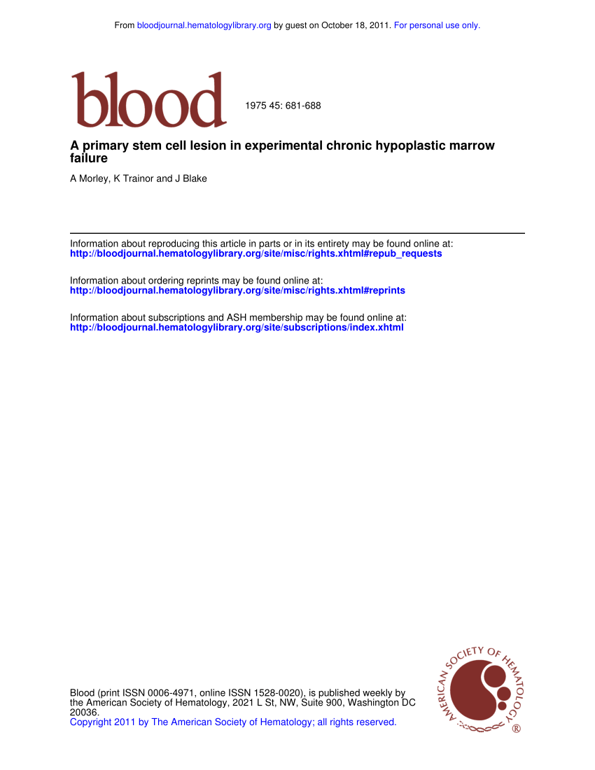 Moderne H User Pl Ne In Blood Abnormalities Of Myeloid Progenitor Cells After Successful Bone