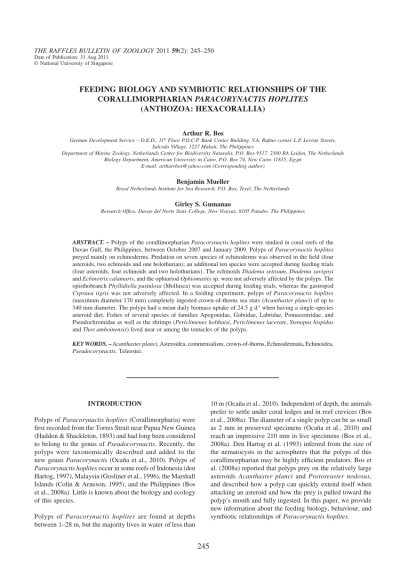 (PDF) Feeding biology and symbiotic relationships of the ...
