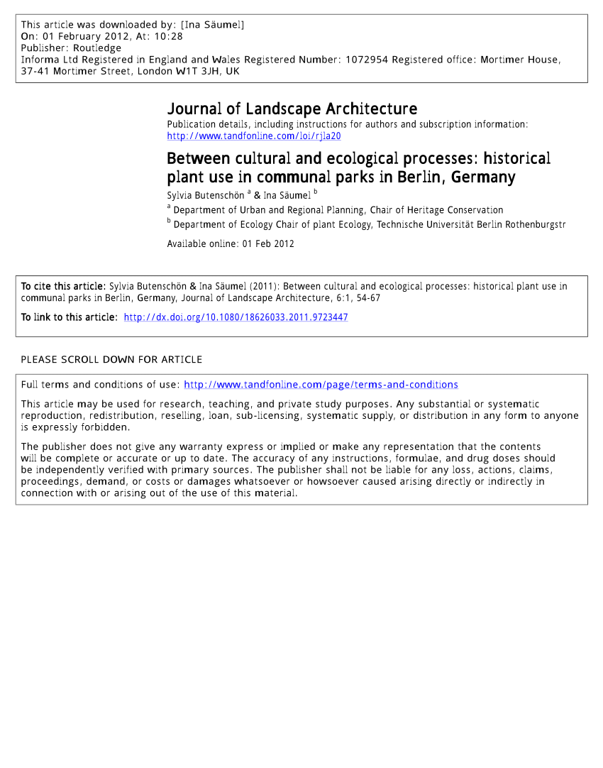Gartenarchitekt England Pdf Between Cultural And Ecological Processes Historical Plant
