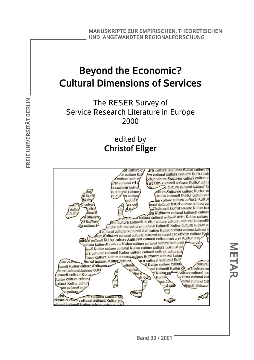 Raumplaner Uni Göttingen Pdf Beyond The Economic Cultural Dimensions Of Services