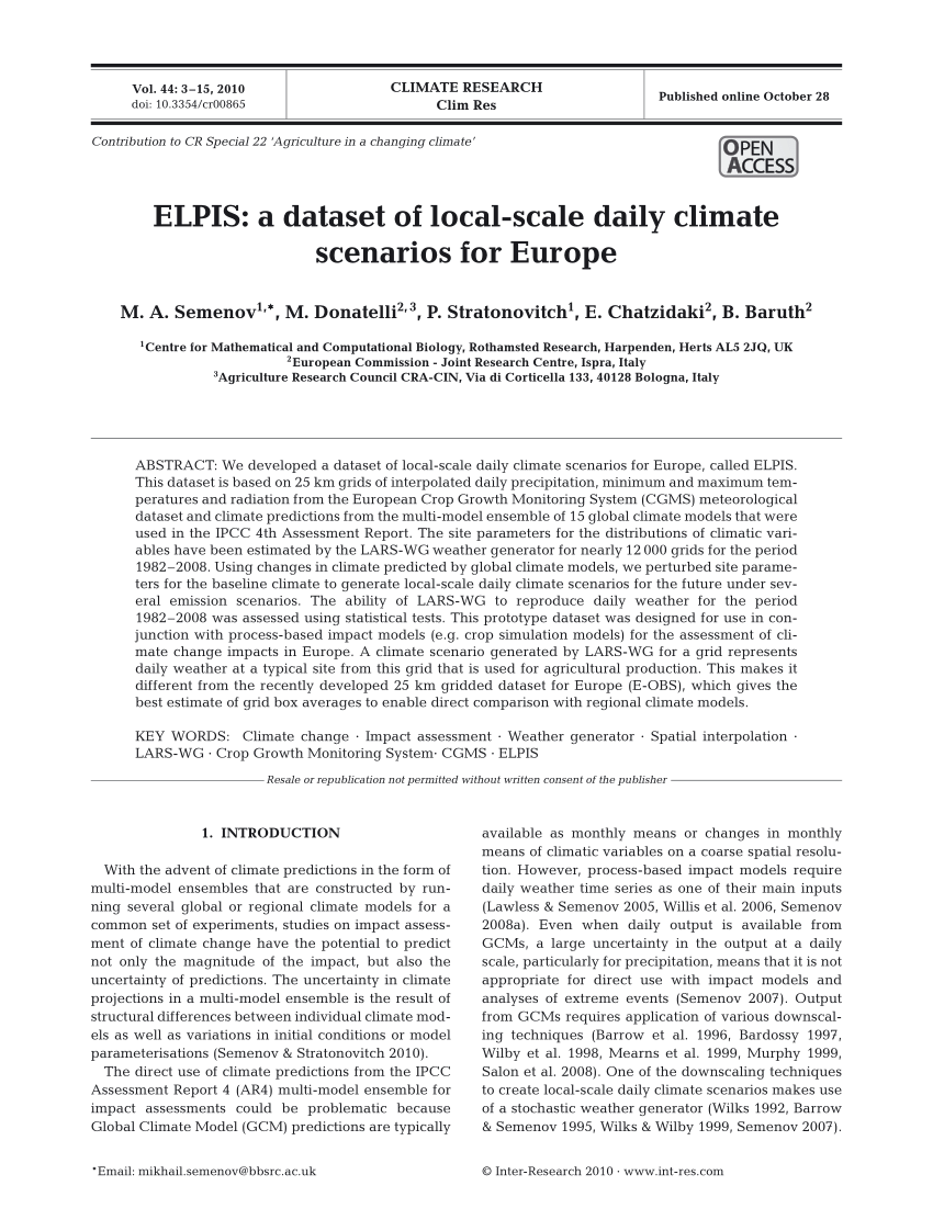 Salon Sev Et Cin Pdf Elpis A Dataset Of Local Scale Daily Climate Scenarios For