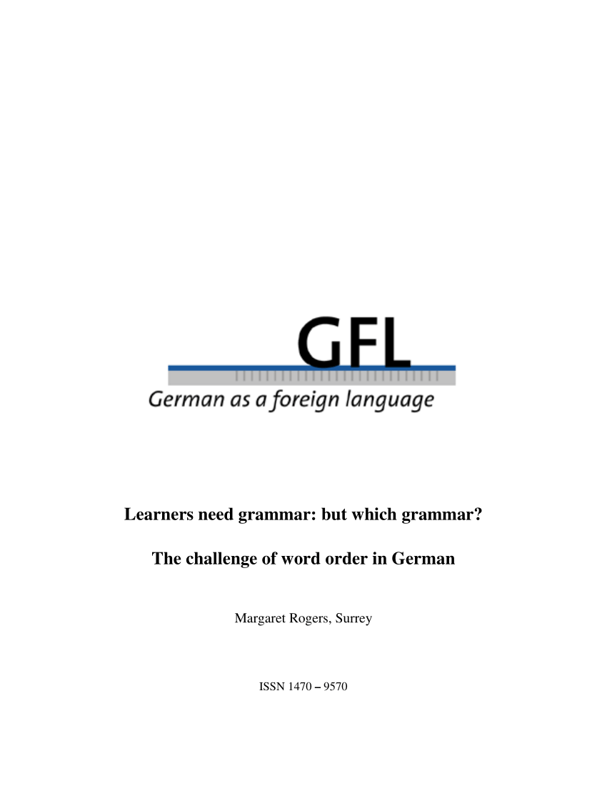 Speiseschrank Pdf Learners Need Grammar But Which Grammar The Challenge Of