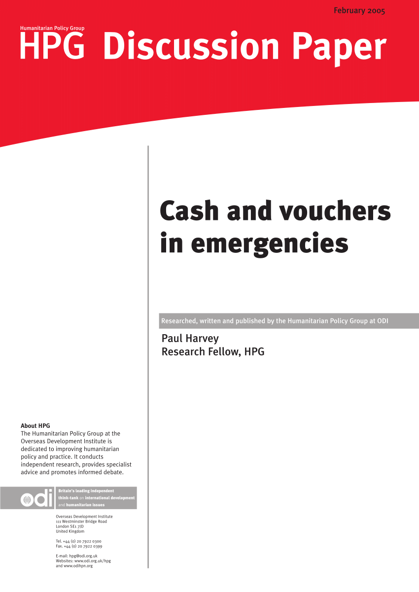 Cash Pooling Y Precios De Transferencia Pdf Cash And Vouchers In Emergencies