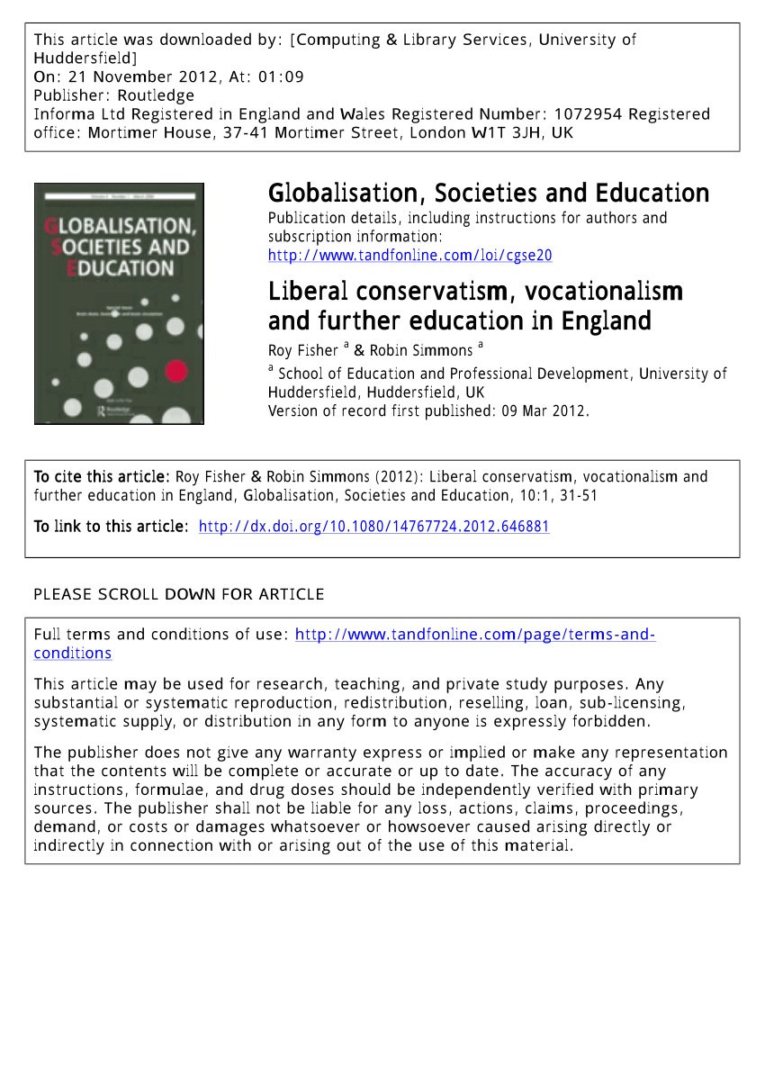 Arts Et Rangements Christine Roy Pdf Liberal Conservatism Vocationalism And Further Education In